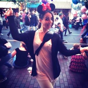 Katharina at Disneyland