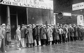 Great Depression food line