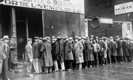 Great Depression food line